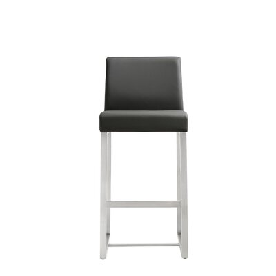 Orville 25.9 Bar Stool Upholstery: Grey