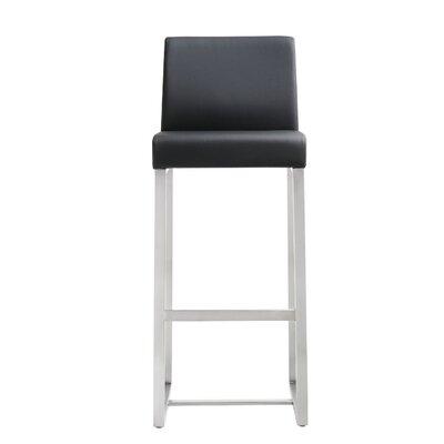 Orville 30 Bar Stool Upholstery: Black