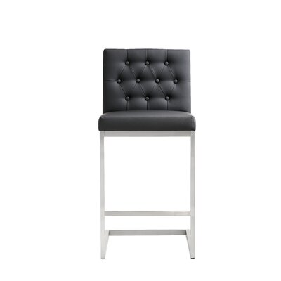 Borough Park 25.9 Square Bar Stool Upholstery: Black