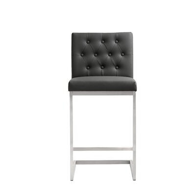 Borough Park 25.9 Square Bar Stool Upholstery: Grey