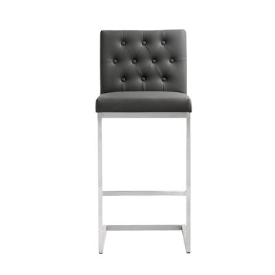 Borough Park 30 Square Bar Stool Upholstery: Grey