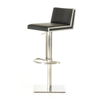 Clower Adjustable Height Upholstered Swivel Bar Stool