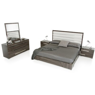 Panel 5 Piece Bedroom Set Size: King
