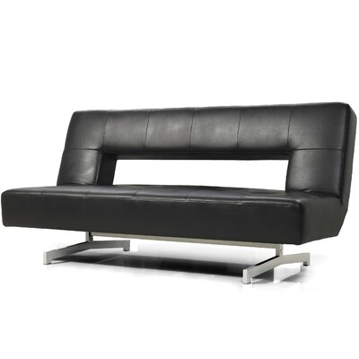 Coalpit Heath Armless Sleeper Sofa Upholstery: Black