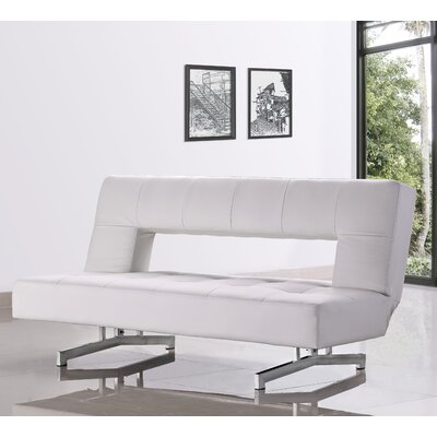 Coalpit Heath Armless Sleeper Sofa Upholstery: White