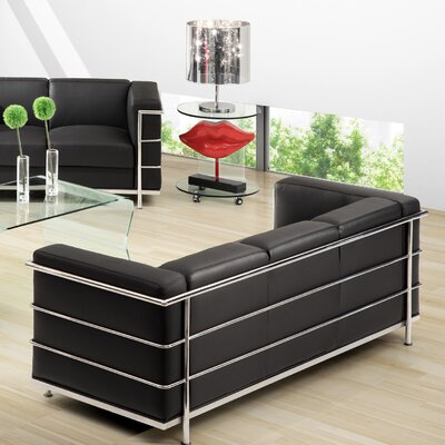 Gallagher Sofa Upholstery: Black