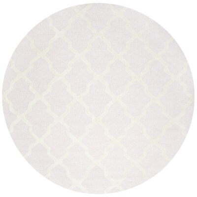 Clifford Light Pink/Ivory Area Rug Rug Size: Round 4