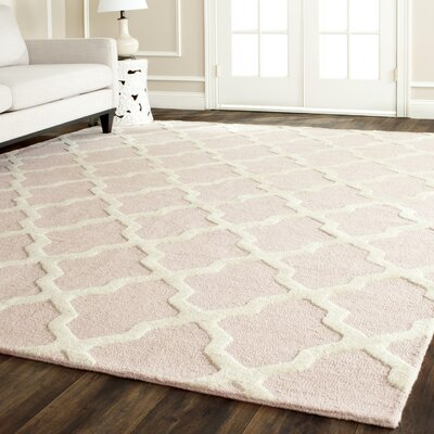 Clifford Light Pink/Ivory Area Rug Rug Size: Rectangle 10 x 14