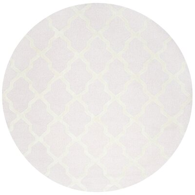 Clifford Light Pink/Ivory Area Rug Rug Size: Round 8