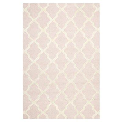 Light Pink/Ivory Area Rug Rug Size: 10 x 14