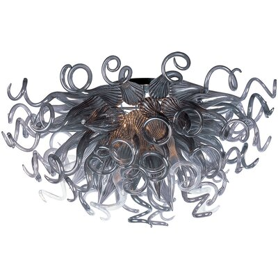 Willem 12-Light Semi Flush Mount Shade Color: Fume