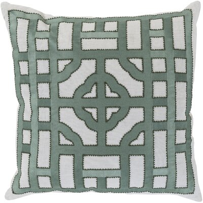 Watson Polyester Throw Pillow Size: 18 H x 18 W x 4 D, Color: Light Gray/Moss
