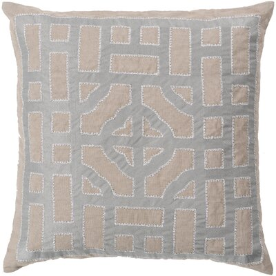 Watson Polyester Throw Pillow Size: 20 H x 20 W x 4 D, Color: Taupe/Gray