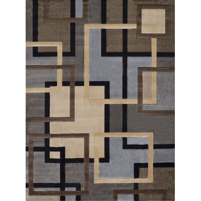Ezekiel Brown/Gray Area Rug Rug Size: 52 x 72