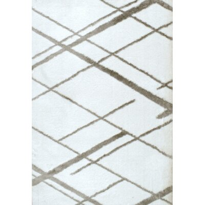 Johns White Area Rug Rug Size: 9 x 12