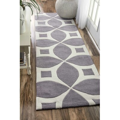 Kane Hand-Tufted Gray Area Rug Rug Size: Runner 26 x 8