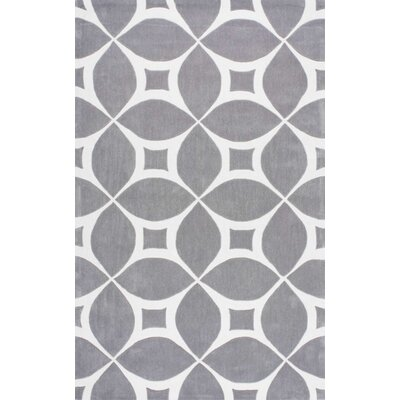 Kane Hand-Tufted Gray Area Rug Rug Size: 76 x 96