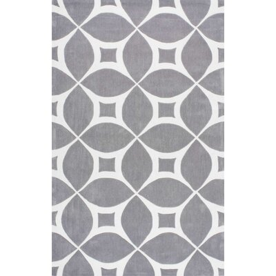 Kane Hand-Tufted Gray Area Rug Rug Size: 86 x 116