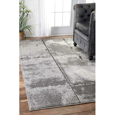 Herman Gray Area Rug Rug Size: Rectangle 5 x 8