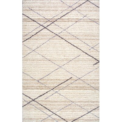 Hester Hand-Tufted Beige Area Rug Rug Size: 5 x 8