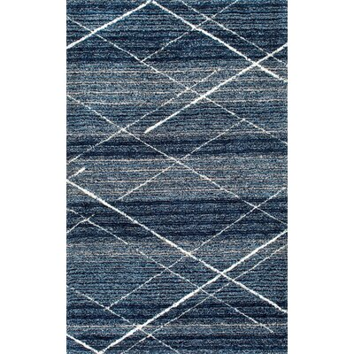 Hickman Hand-Tufted Blue Area Rug Rug Size: 5 x 8