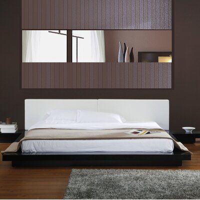 Carter Upholstered Platform Bed Size: Eastern King, Color: Black Oak