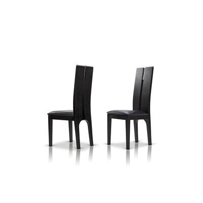 Clower Wood Side Chair Finish: Black Oak
