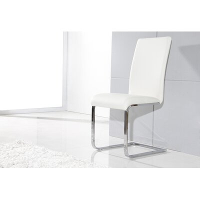 Clower Upholstered Metal Frame Side Chair Finish: White