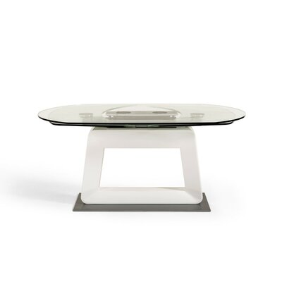 Clower Extendable Wood Base Dining Table