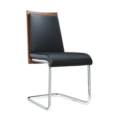 Clower Modern Upholstered Side Chair Upholstery: Black