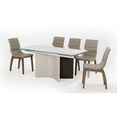 Clower Modern Extendable Wood Base Dining Table