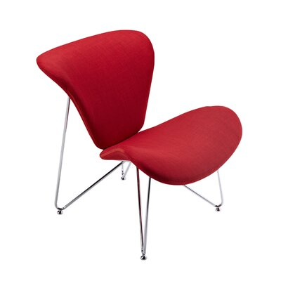 Brooklyn Contemporary Accent Chair Color: Red