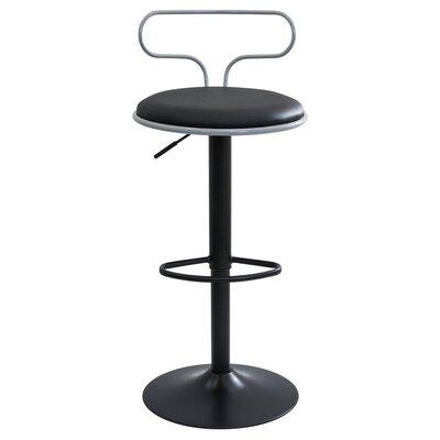 Ibarra Adjustable Height Swivel Bar Stool Upholstery: Grey