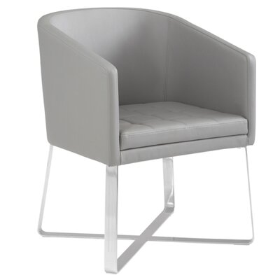 Barney Barrel Chair Upholstery: Grey