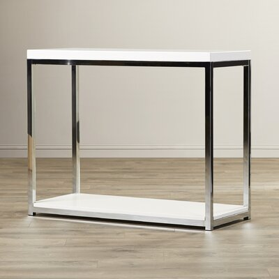 Mapleton Console Table Finish: Chrome / White