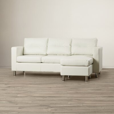 Clarence Reversible Sectional Upholstery Color: White
