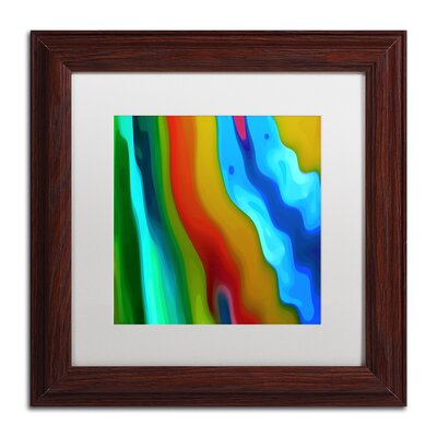 'River Runs Through Square 3' Wood Framed Graphic Art on Canvas Size: 11
