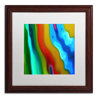 'River Runs Through Square 3' Wood Framed Graphic Art on Canvas Size: 16