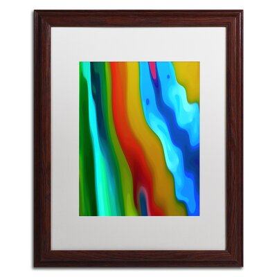 'River Runs Through Vertical 2' Framed Graphic Art Size: 20