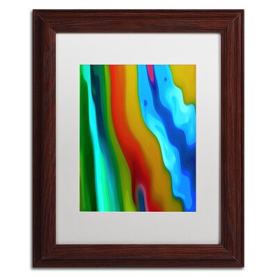 'River Runs Through Vertical 2' Framed Graphic Art Size: 14