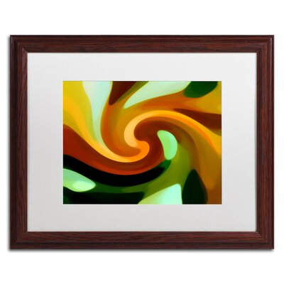 'Wind In Tree 1' Giclée Framed Graphic Art on Canvas Size: 16