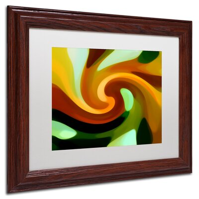 'Wind In Tree 1' Giclée Framed Graphic Art on Canvas Size: 11