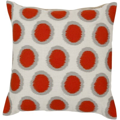 Mcelhaney Throw Pillow Color: Red