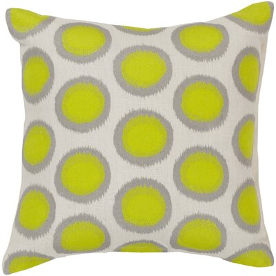 Mcelhaney Linen Throw Pillow Color: Green