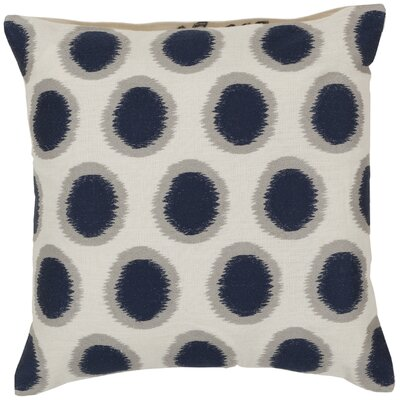 Mcelhaney Linen Throw Pillow Color: Blue