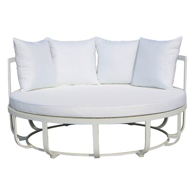 Tallmadge Day bed with Cushions Fabric: White