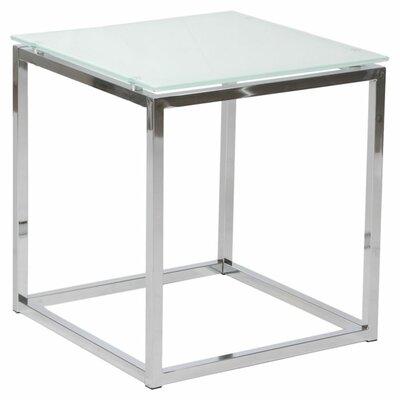 Bellewood End Table Top Color: White, Size: 19 H x 18 W x 18 D
