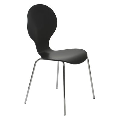 Abe Side Chair Finish: Black