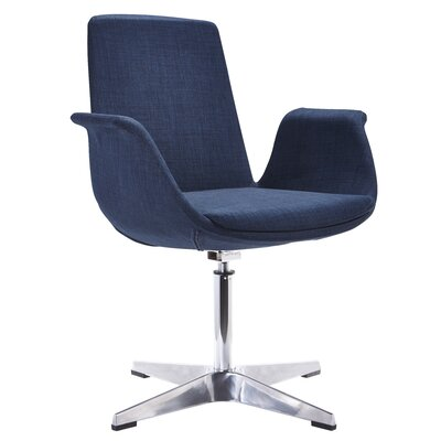 Barney Modern Arm Chair Upholstery: Blue