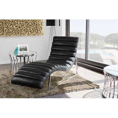 Olney Chaise Lounge Upholstery: Black